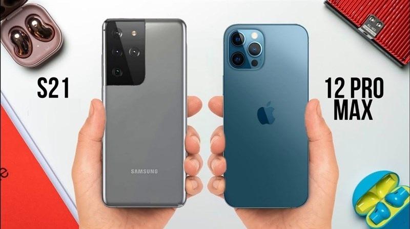 So sánh hiệu năng Galaxy S21+ với iPhone 12 Pro Max