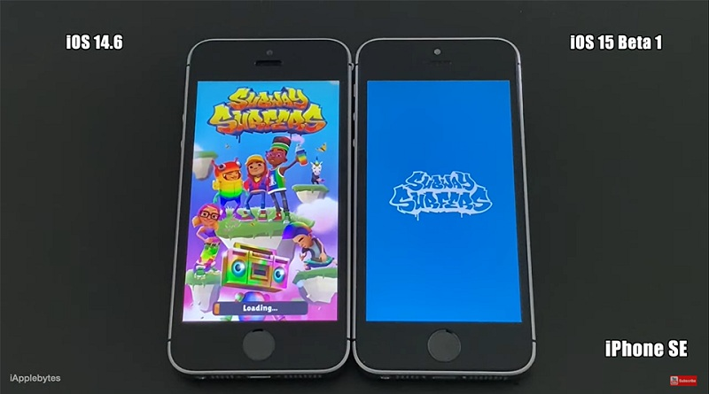 iOS 15 Beta 1 vs iOS 14.6 mở game