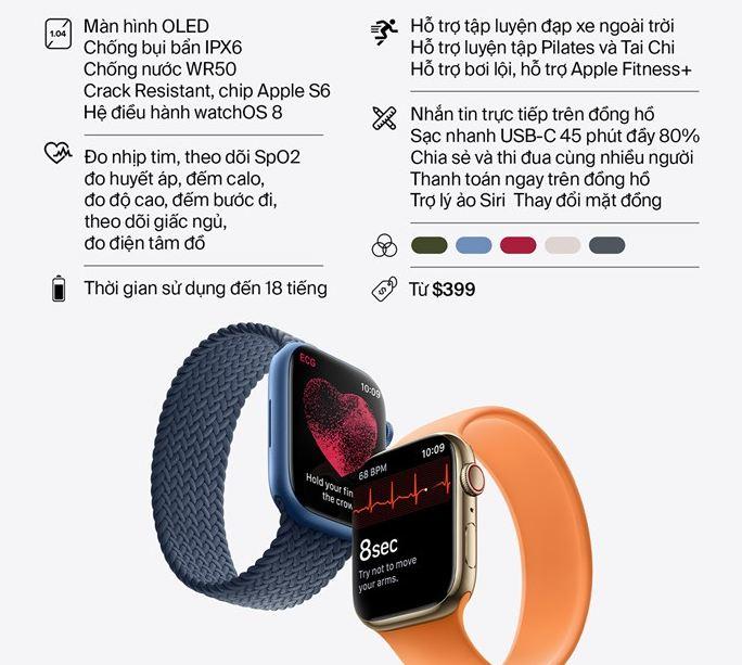 cấu hình Apple Watch Series 7