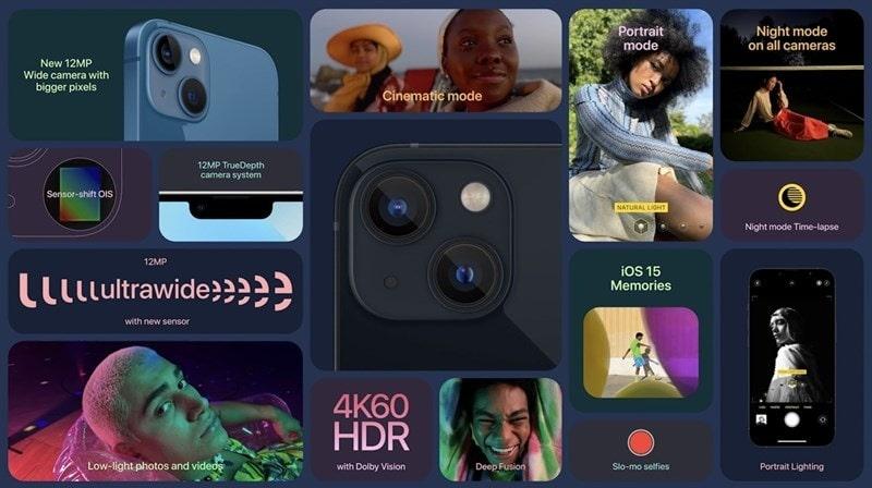 tính năng iPhone 13 vs iPhone 12