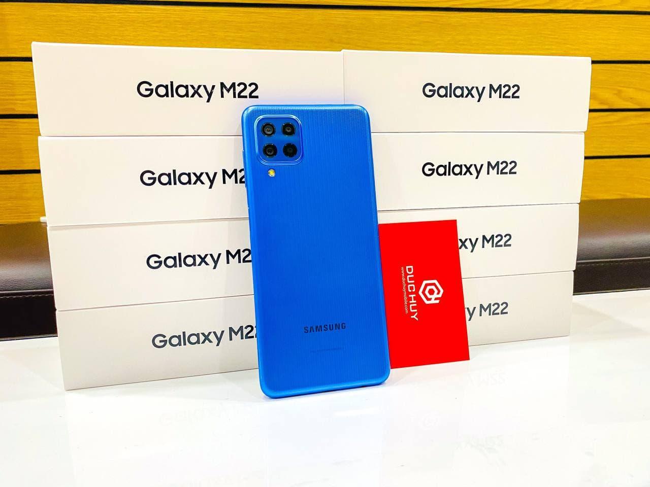 Hộp đựng của Samsung Galaxy M22.