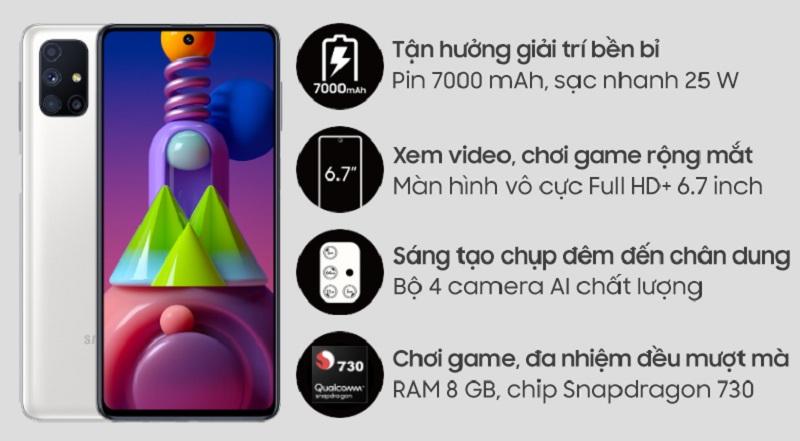 Tính năng Samsung Galaxy M51 cũ
