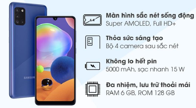 tính năng Galaxy A31