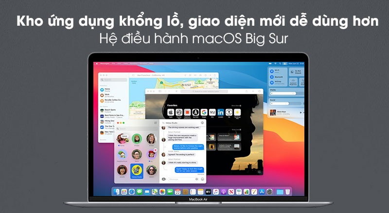OS của MacBook Air M1