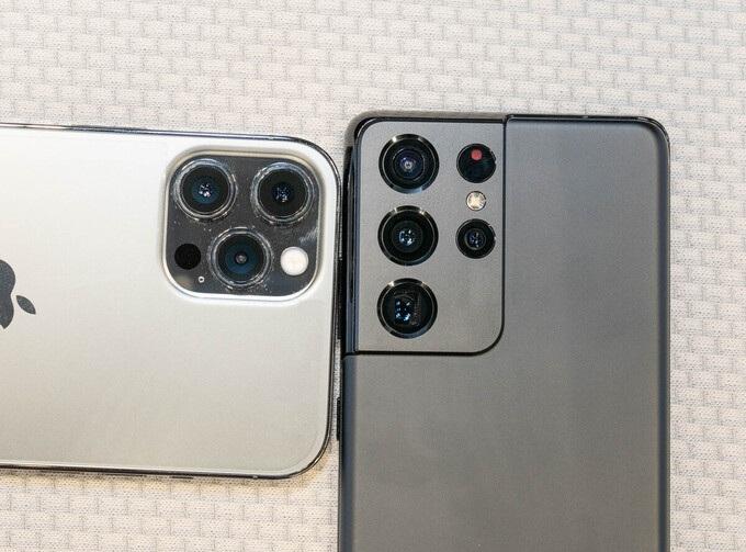 camera iPhone 12 Pro Max vs Galaxy S21 Ultra 5G