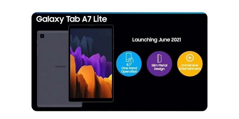 cấu hình Galaxy Tab A7 Lite