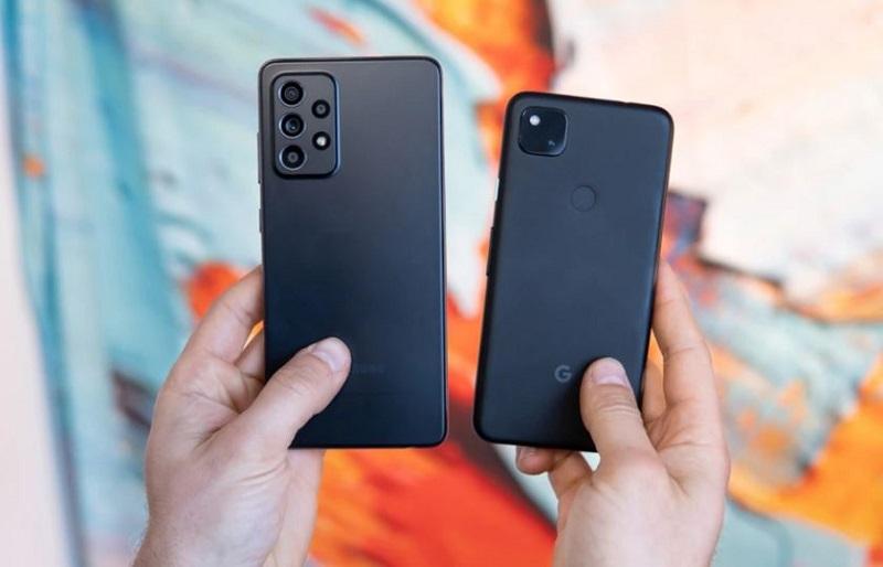 So sánh thiết kế Samsung Galaxy A52 vs Google Pixel 4a 5G