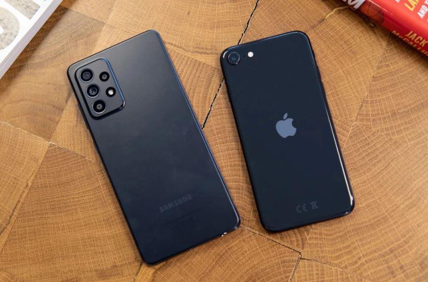 So sánh Samsung Galaxy A52 vs iPhone SE 2020