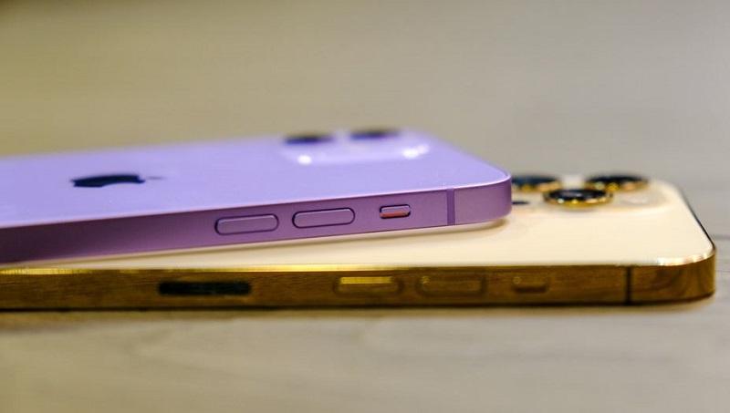Viền iPhone 12 tím