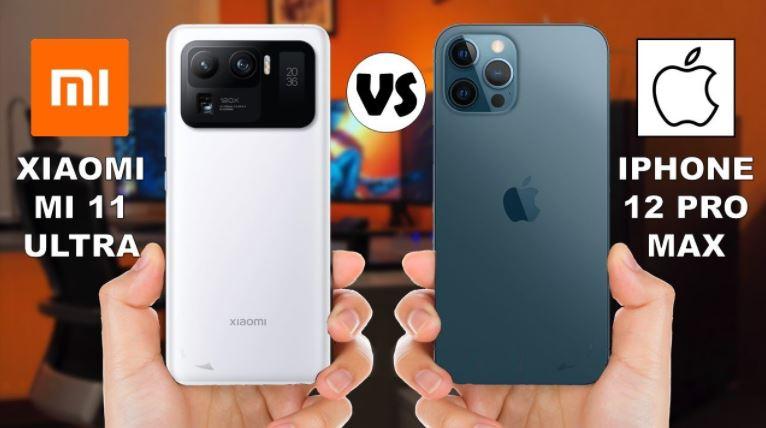 So sánh iPhone 12 Pro Max vs Xiaomi Mi 11 Ultra