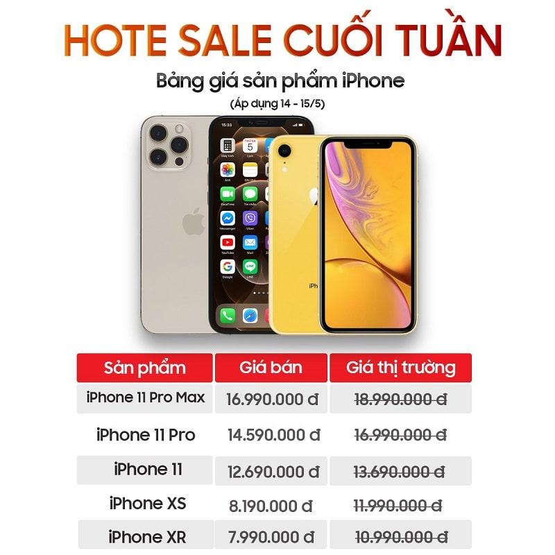 Sale iPhone sốc cuối tuần