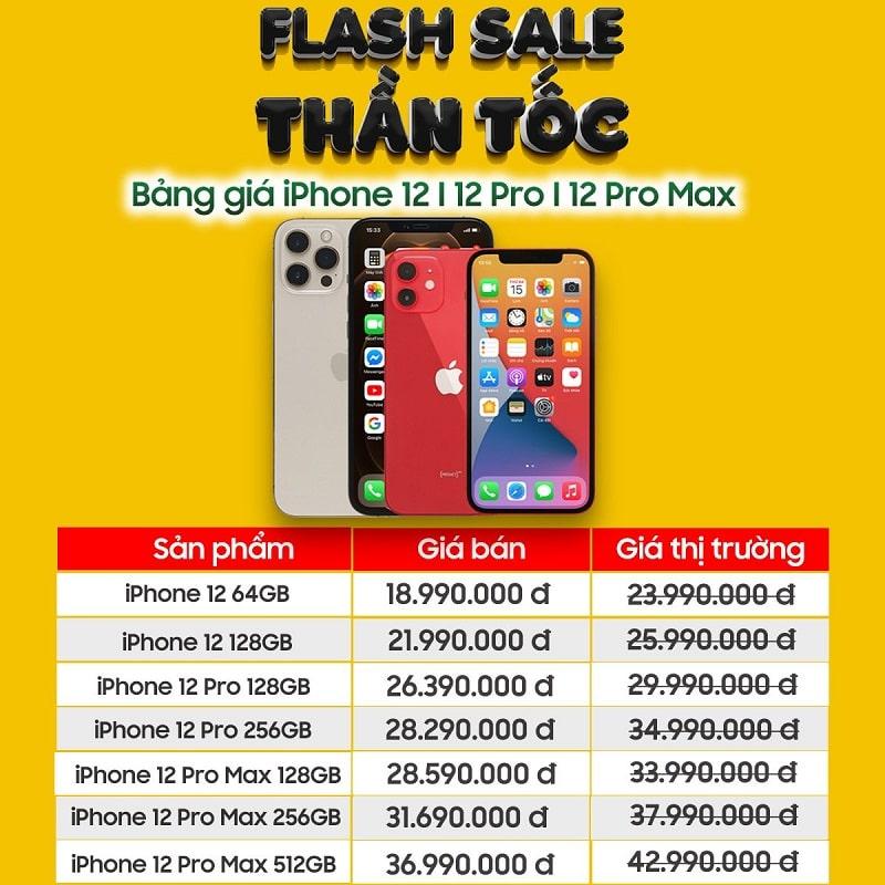 iPhone 12 series giảm sốc đến 5 triệu