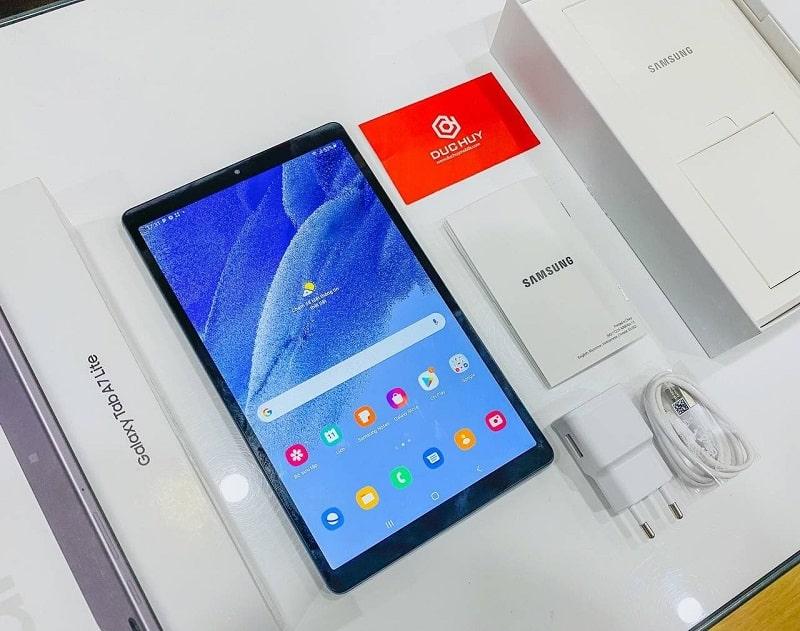 Màn hình thiết kế Galaxy Tab A7 Lite