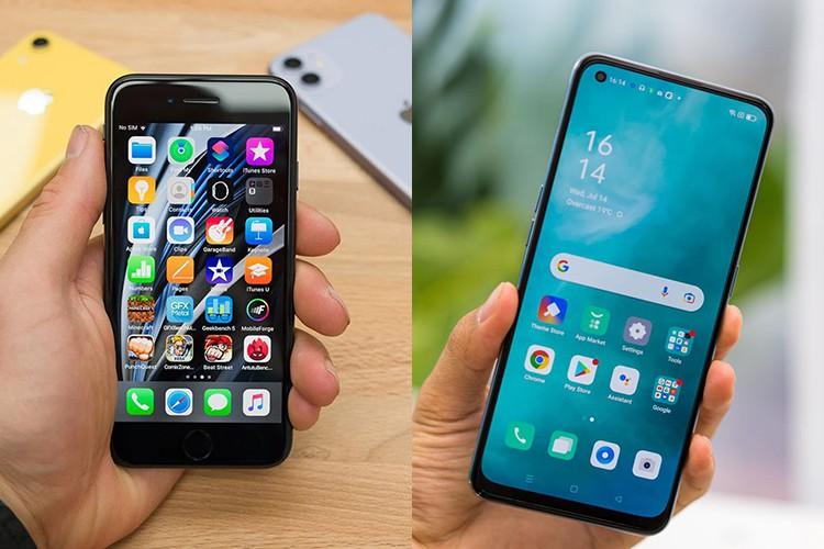 So sánh OPPO Reno6 Z 5G vs iPhone SE 2020