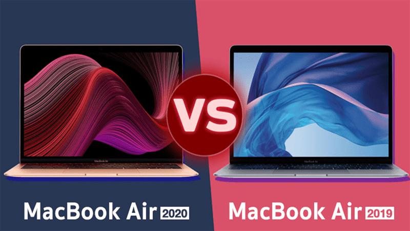 So sánh Macbook Air 2020 vs Macbook Air 2019