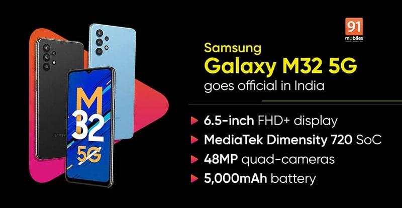 cấu hình Samsung Galaxy M32 5G