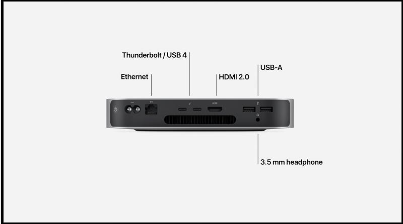kết nối Mac Mini M1 2020 256GB