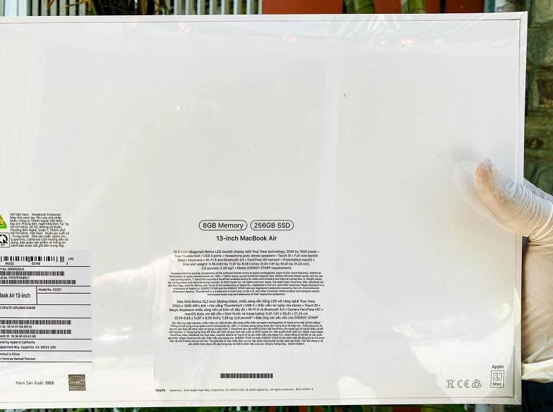 Macbook Air M1 13 inch 2020 (8GB | 256GB) chính hãng