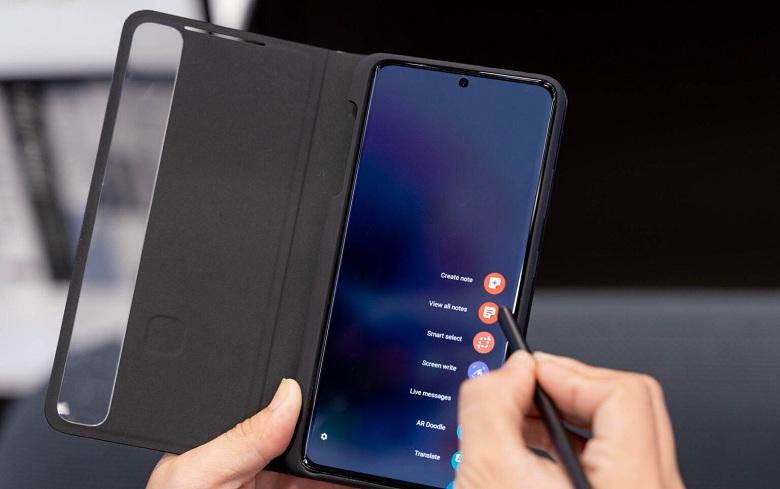 Ốp Lưng Silicone Kèm Bút S Pen Samsung Galaxy S21 Ultra 5G