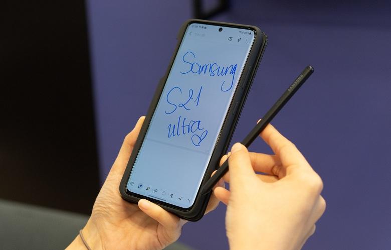 trên tay Bút S Pen Samsung Galaxy S21 Ultra 5G