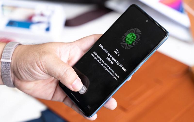 vân tay Samsung Galaxy A52