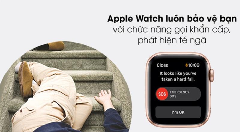 SOS trên Apple Watch SE 44mm (4G)