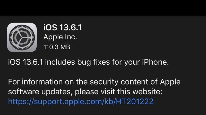 apple phát hành cập nhật