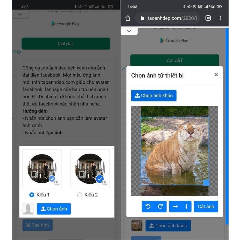 Cách tạo avatar Facebook có tích xanh bước đầu