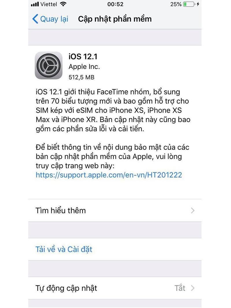 cách tải ios 12.1 trên iphone đơn giản