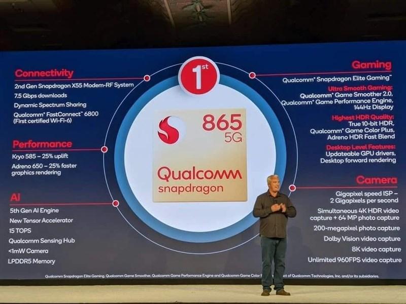 Chip Snapdragon 865 là chipset mạnh mẽ nhất của Qualcomm