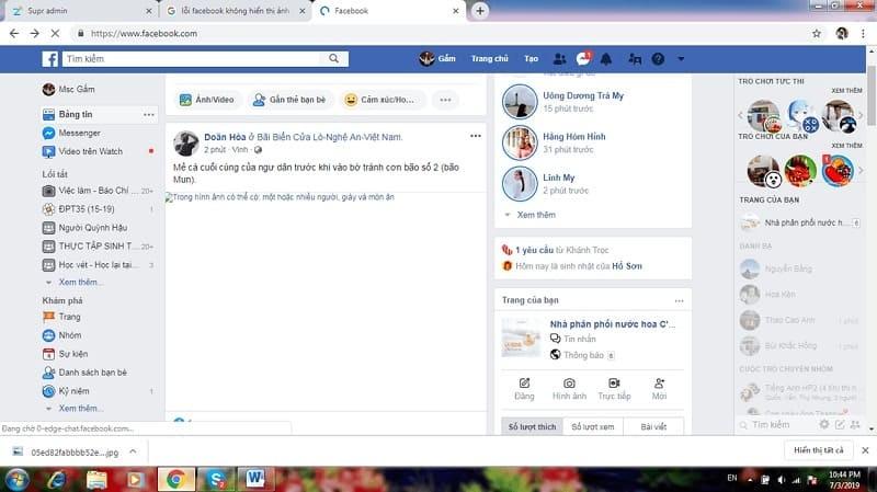 facebook gặp lỗi hình ảnh