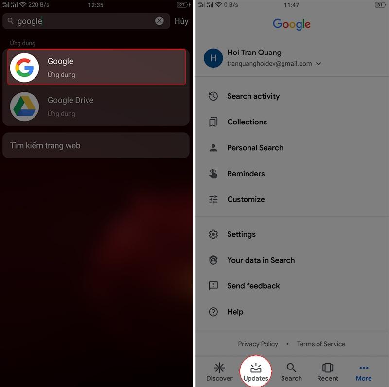 hướng dẫn gọi google assistant bước 2