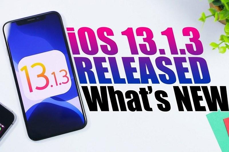 ios 13.1.3 ra mắt