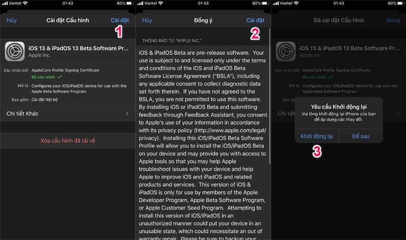 ios 13 beta 2 dành cho nhà phát triển bước 3