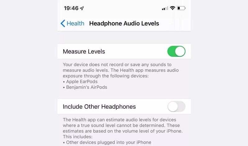 ios 13 beta 3 mới headphone audio levels