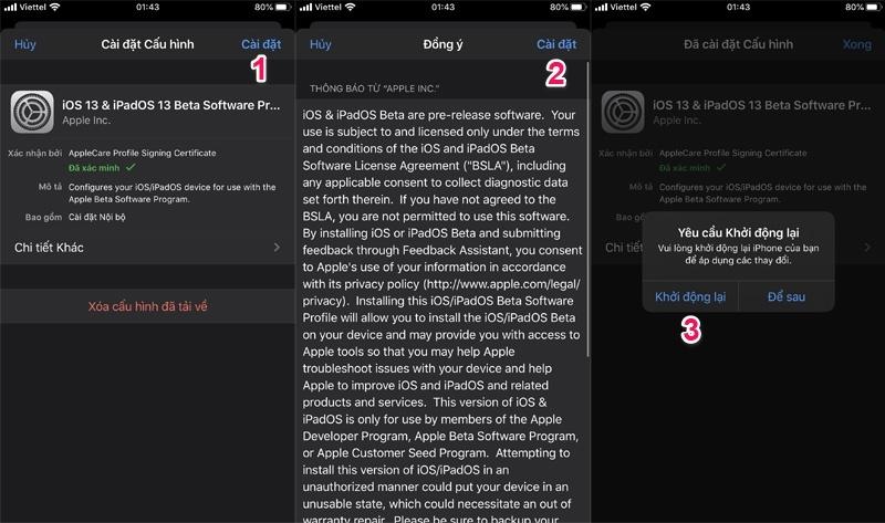 ios 13 developer beta 6 public beta 5 cập nhật bước 3