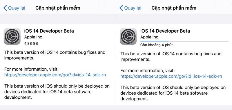 ios 14 beta cập nhật phần mềm