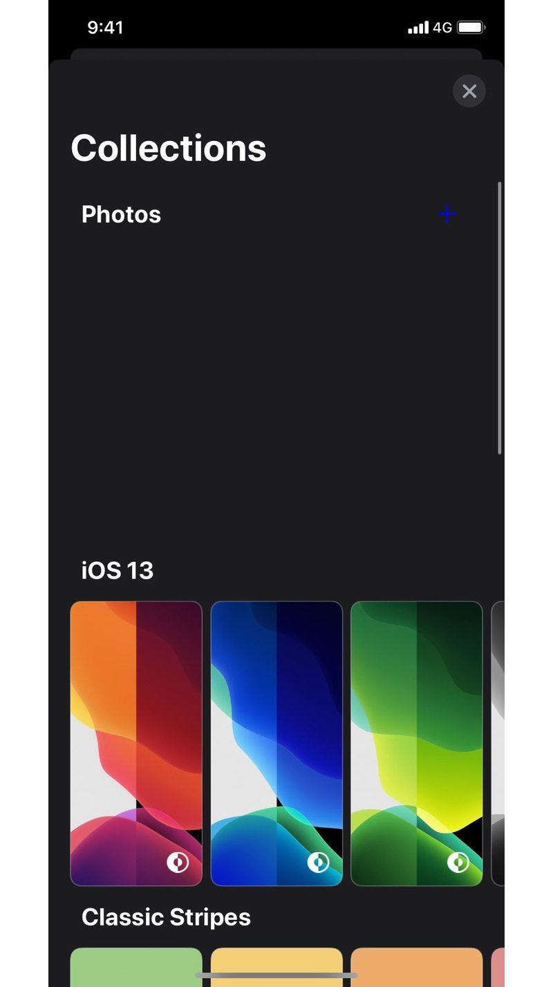 Hình nền của iOS 14 được phân loại theo nhóm