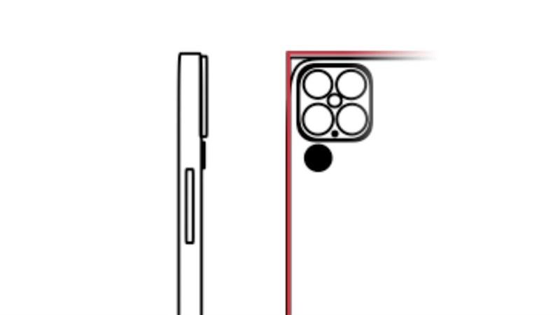 Cụm camera được đồn đoán trên iPhone 13