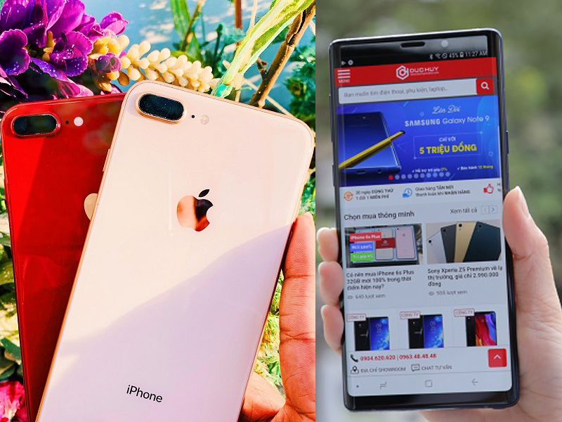 Nên mua Samsung Galaxy Note 9 và iPhone 8 Plus cũ