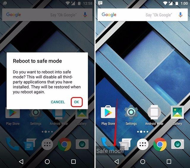 khắc phục màn hình cảm ứng dùng chế độ safe mode