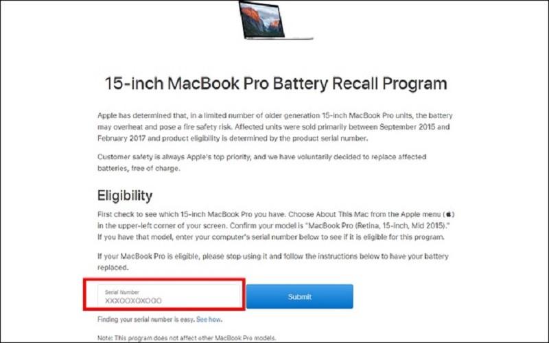 kiểm tra macbook pro bước 2