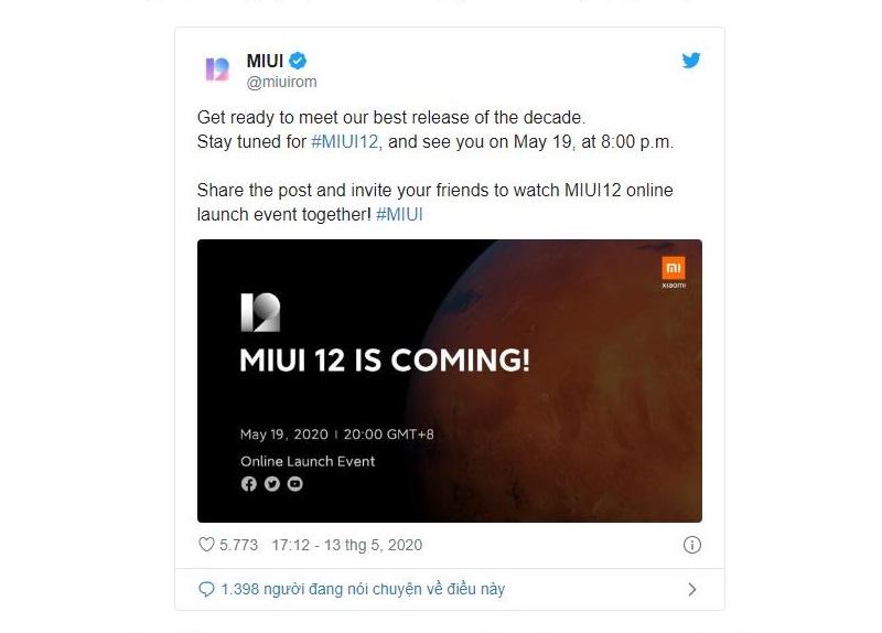 Xiaomi thông báo về phiên bản cập nhật MIUI 12