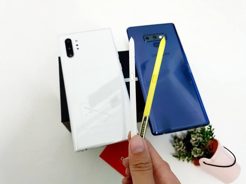 So sánh về tính năng trên bút S Pen Samsung Galaxy Note 9 và Samsung Galaxy Note 10 Plus 5G