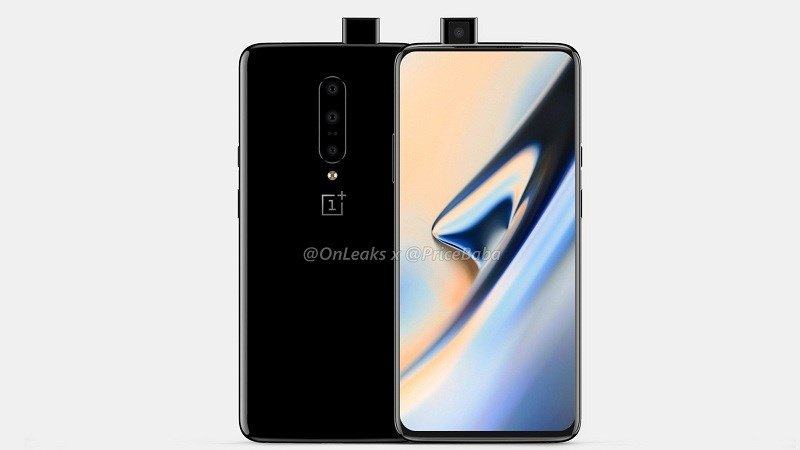 oneplus 7 3d render camera pop up