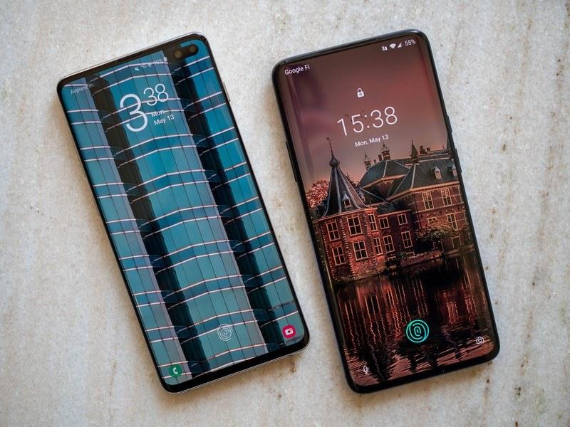 oneplus 7 pro va galaxy s10 plus màn hình