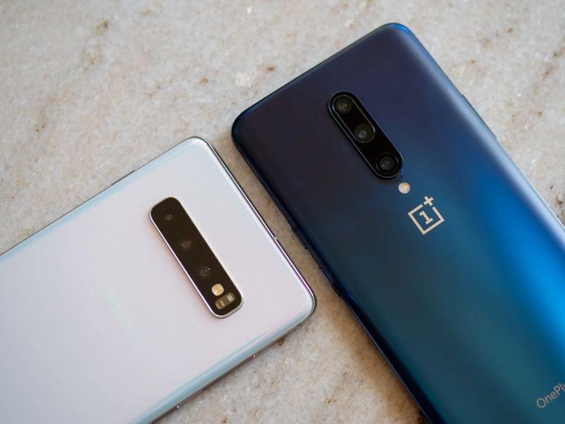 oneplus 7 pro và galaxy s10 plus màu sắc