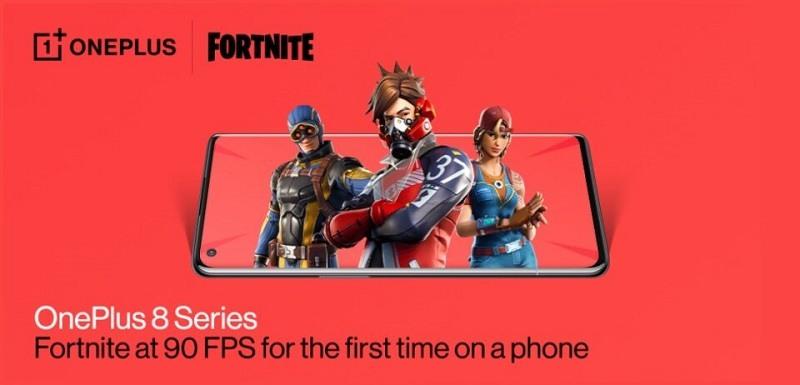 Dòng OnePlus 8 chơi được tựa game Fortnite ở chế độ 90fps
