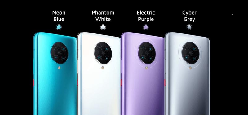 POCO F2 Pro có 4 màu