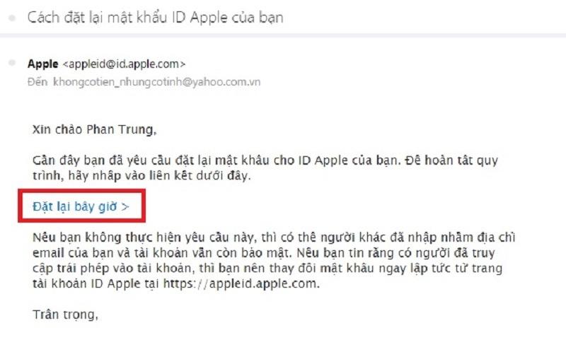 quên mật khẩu apple id bước 4